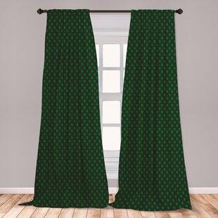 Ambesonne Money 2 Panel Curtain Set, Pattern Of Dollar On Dark Green  Background Monetary Sign Of Usa, Lightweight Window Treatment Living Room  Bedroom ...