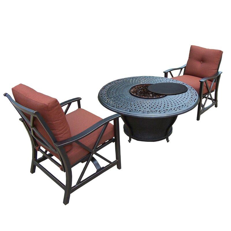 Bon Owego 3 Piece Conversation Set With Cushions