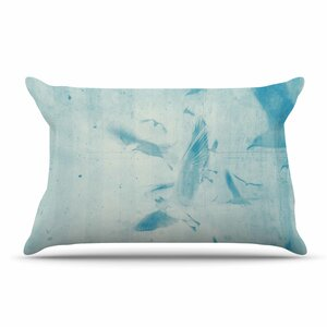 Frederic Levy-Hadida 'Them Birds - Blue' Pillow Case