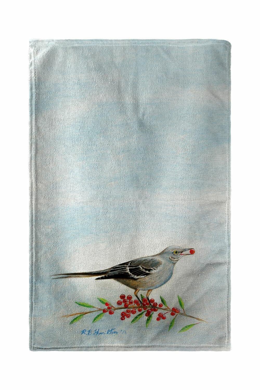 August Grove Godeleine Mockingbird And Berries Beach Towel Wayfair