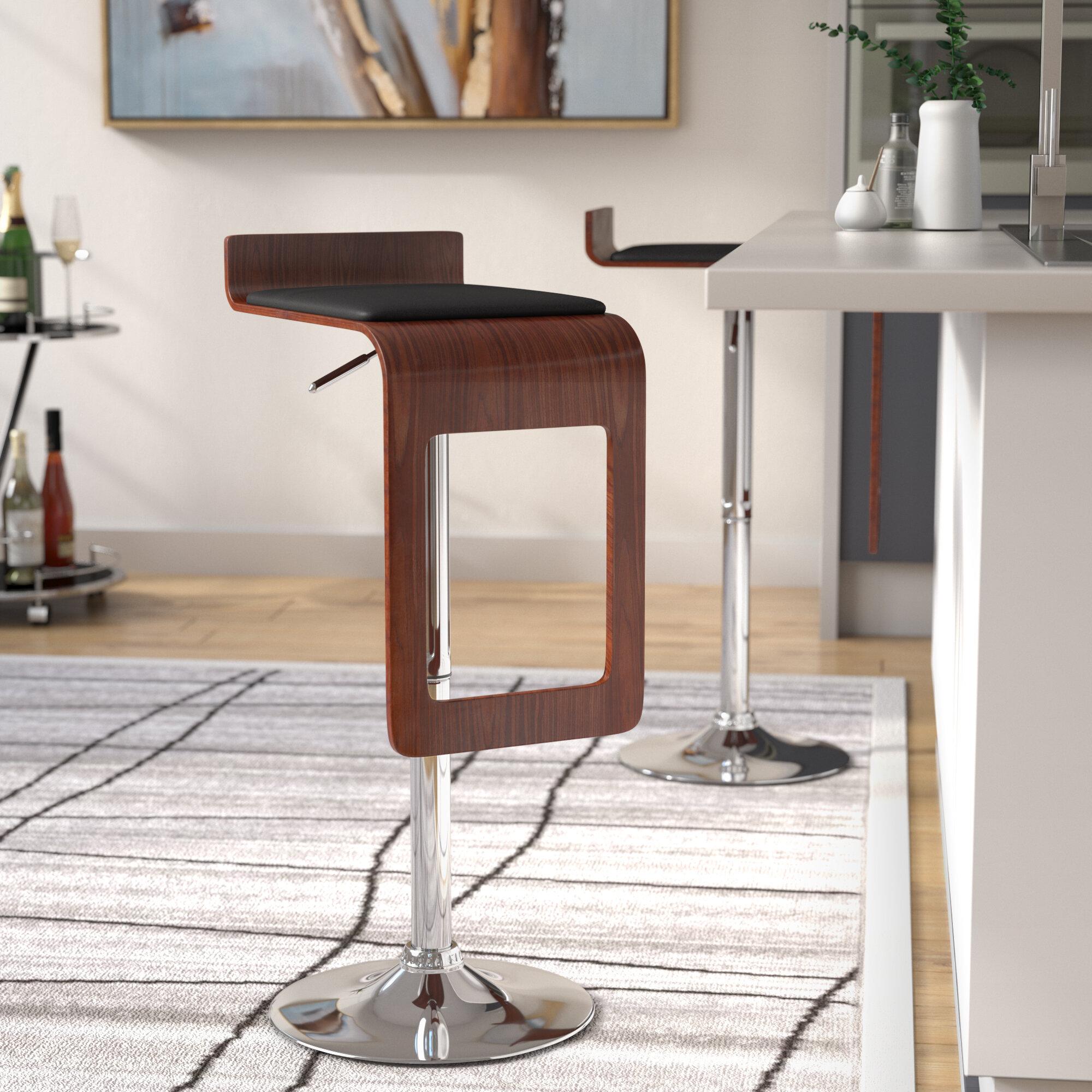 Phenomenal Catina Adjustable Height Swivel Bar Stool Uwap Interior Chair Design Uwaporg