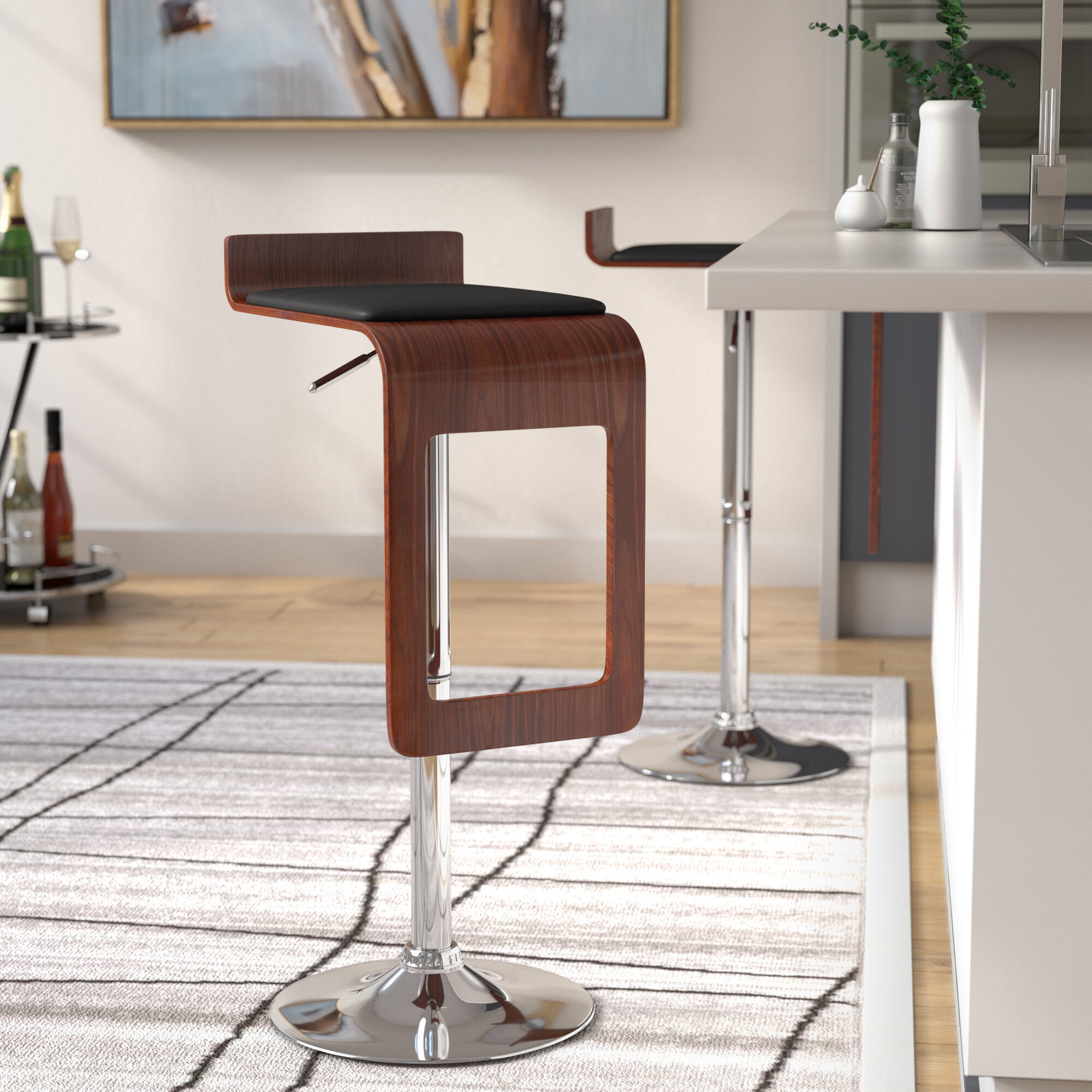 Peachy Catina Adjustable Height Swivel Bar Stool Theyellowbook Wood Chair Design Ideas Theyellowbookinfo