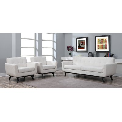George Oliver Granata 2 Piece Living Room Set Upholstery: Beige