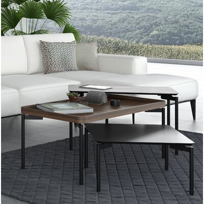 BDI Radius Square Coffee Table  Color: Black