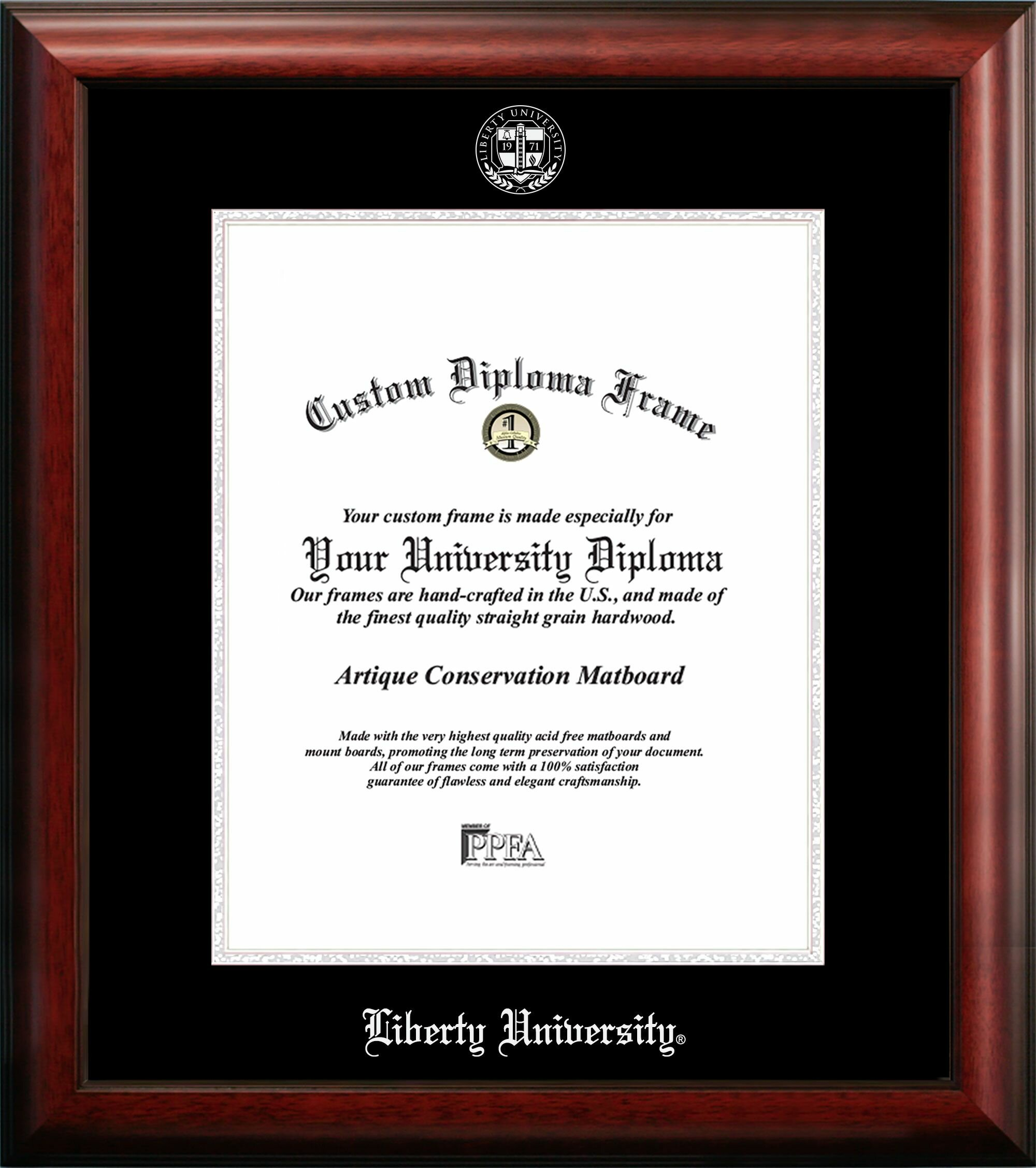 Campus Images Liberty University Embossed Diploma Picture Frame