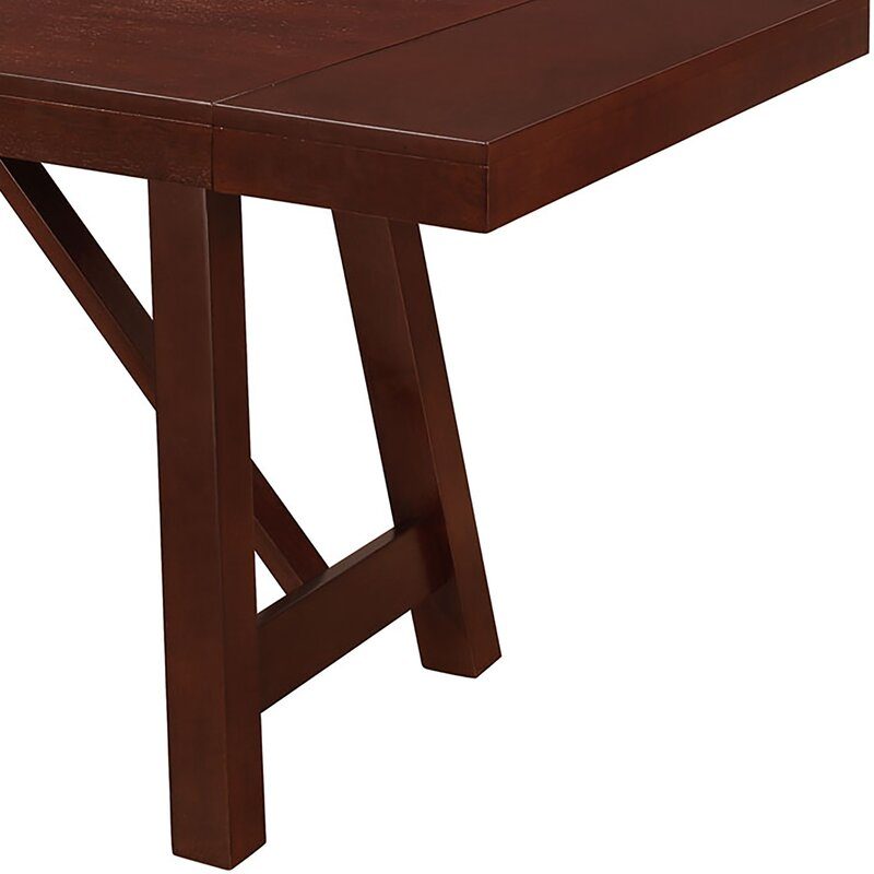 Chiswick Solid Wood Trestle Extendable Dining Table Reviews - Solid hardwood kitchen table