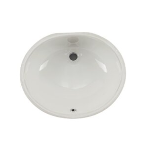 Price comparison Glazed Vitreous China Oval Undermount Bathroom Sink with Overflow By Soleil