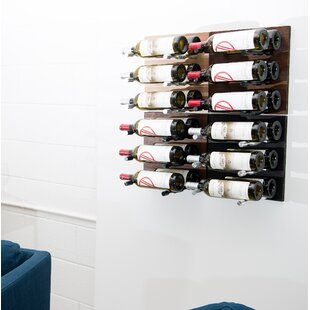 VintageView 24 Bottle Wall Mounted Wine Rack