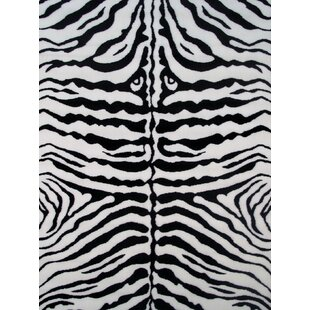 Fun Time White Zebra Skin Area Rug ByFun Rugs