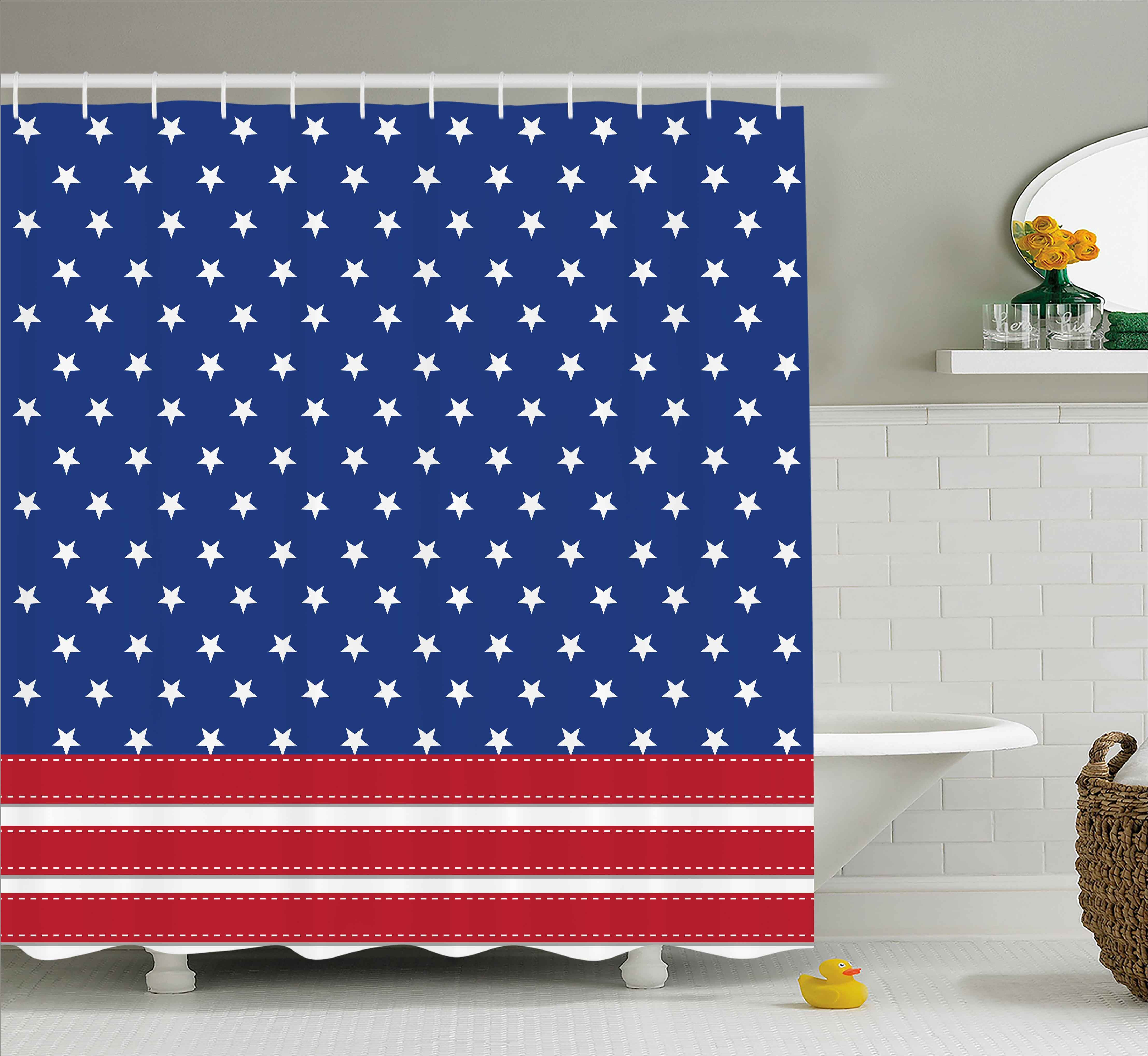 Blue Independence Day Shower Curtains Shower Liners You Ll Love In 2021 Wayfair