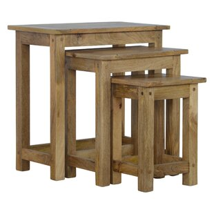 Solid Wood 3 Piece Decorative Stool Set By Union Rustic