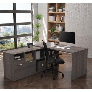 Brayden Studio Prattsburgh L-Shape Executive Desk