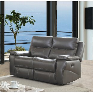 Affordable Faulks Leather Reclining Loveseat by Red Barrel Studio Reviews (2019) & Buyer's Guide