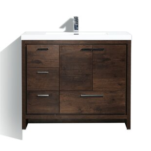 stylish modular wooden bathroom vanity.  Vanity Almendarez Free Standing Modern 41 And Stylish Modular Wooden Bathroom Vanity