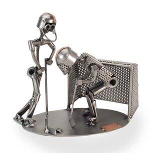 Hockey 2 Figure Sculpture by H & K SCULPTURES