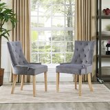 Mandeville Upholstered Dining Chair (Set of 2) by House of Hampton®