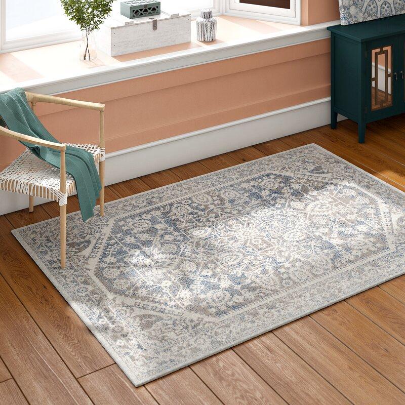 Mistana Rhodes Gray/Blue Area Rug & Reviews | Wayfair on ideal kitchen flooring, best flooring for kitchen, vinyl floor tiles kitchen,