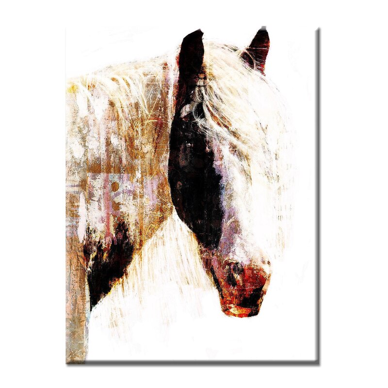 Latitude Run Painted Horse By Norman Wyatt Jr Painting Print On Canvas Wayfair