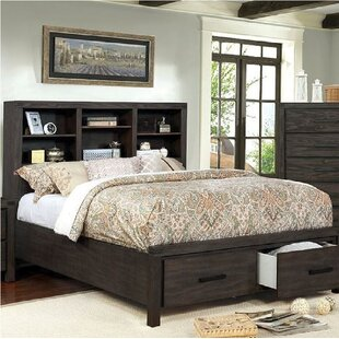 Mathias Bookcase Headboard Storage Platform Bed