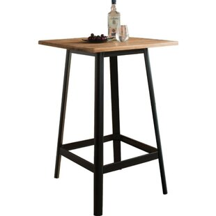 Campagna Transitional Square Wooden Pub Table by Williston Forge