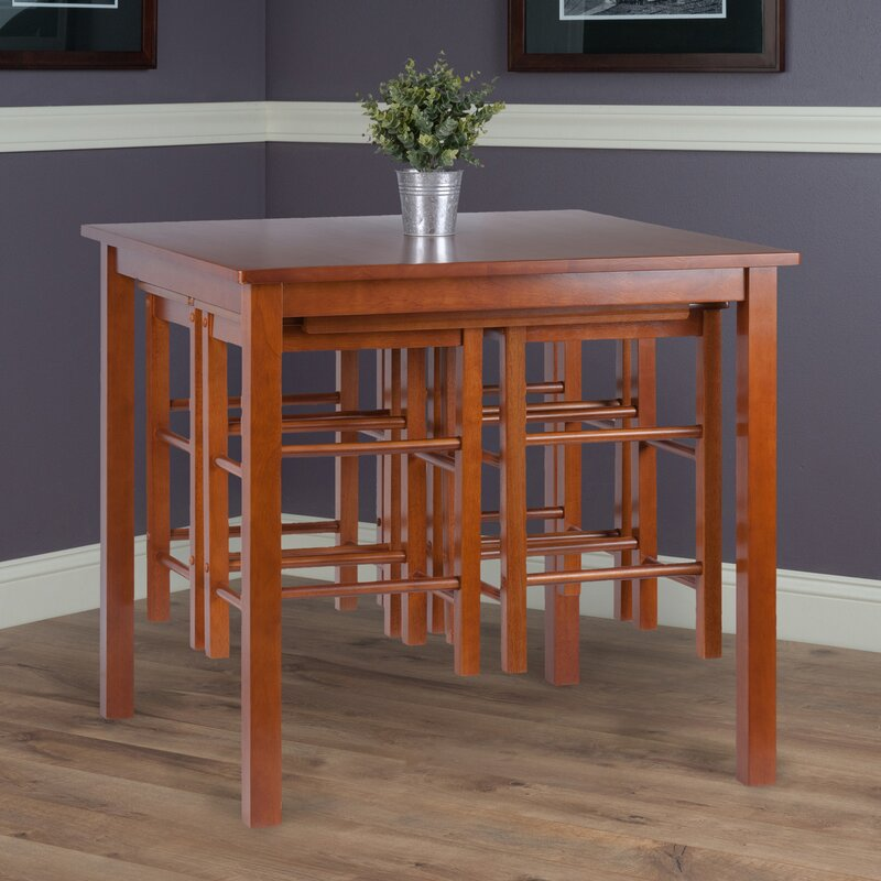 Broseley Space Saver 5 Piece Solid Wood Dining Set