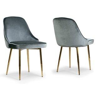 Mercer41 Brotherhood Upholstered Dining Chair (Set of 2)