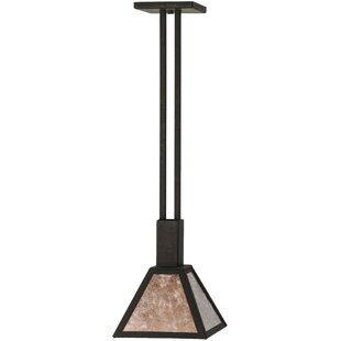 Meyda Tiffany Soffe Mission 1-Light Dome Pendant