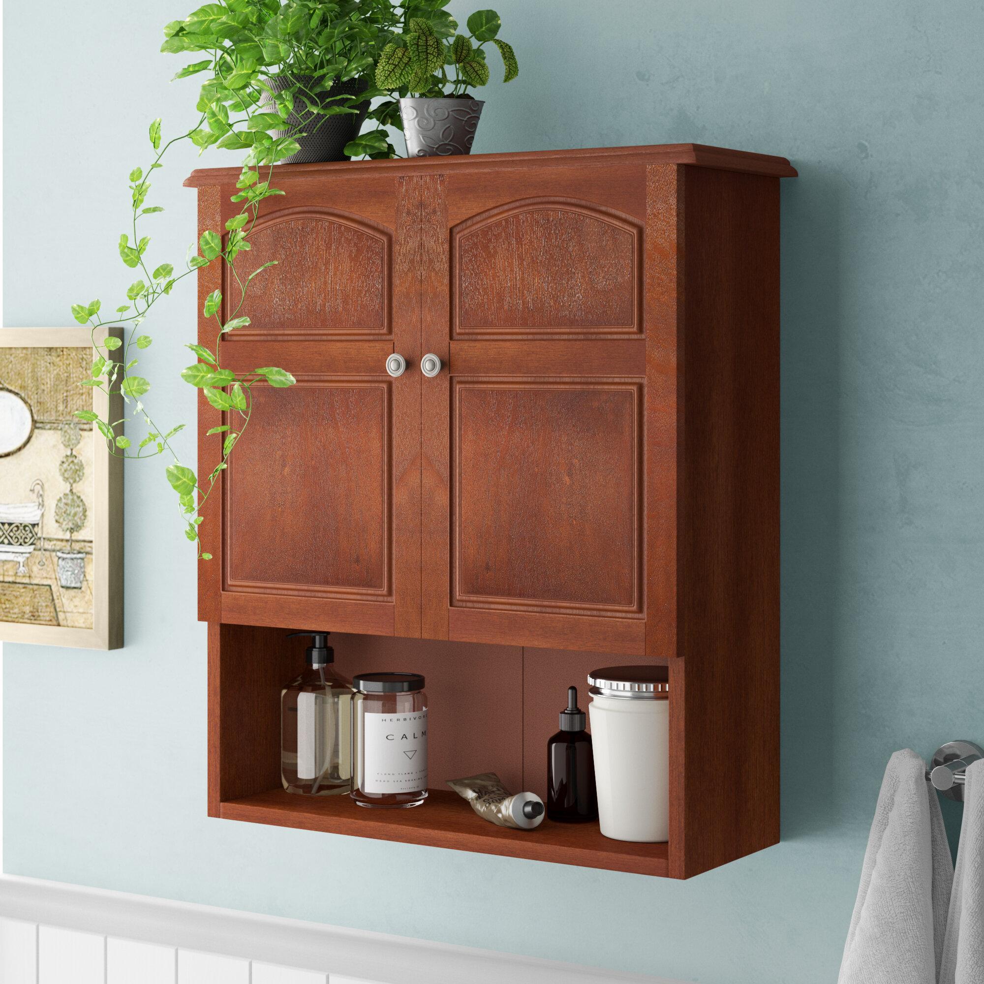 Charlton Home Brogden 22 25 W X 25 H X 6 D Wall Mounted Bathroom Cabinet Reviews Wayfair