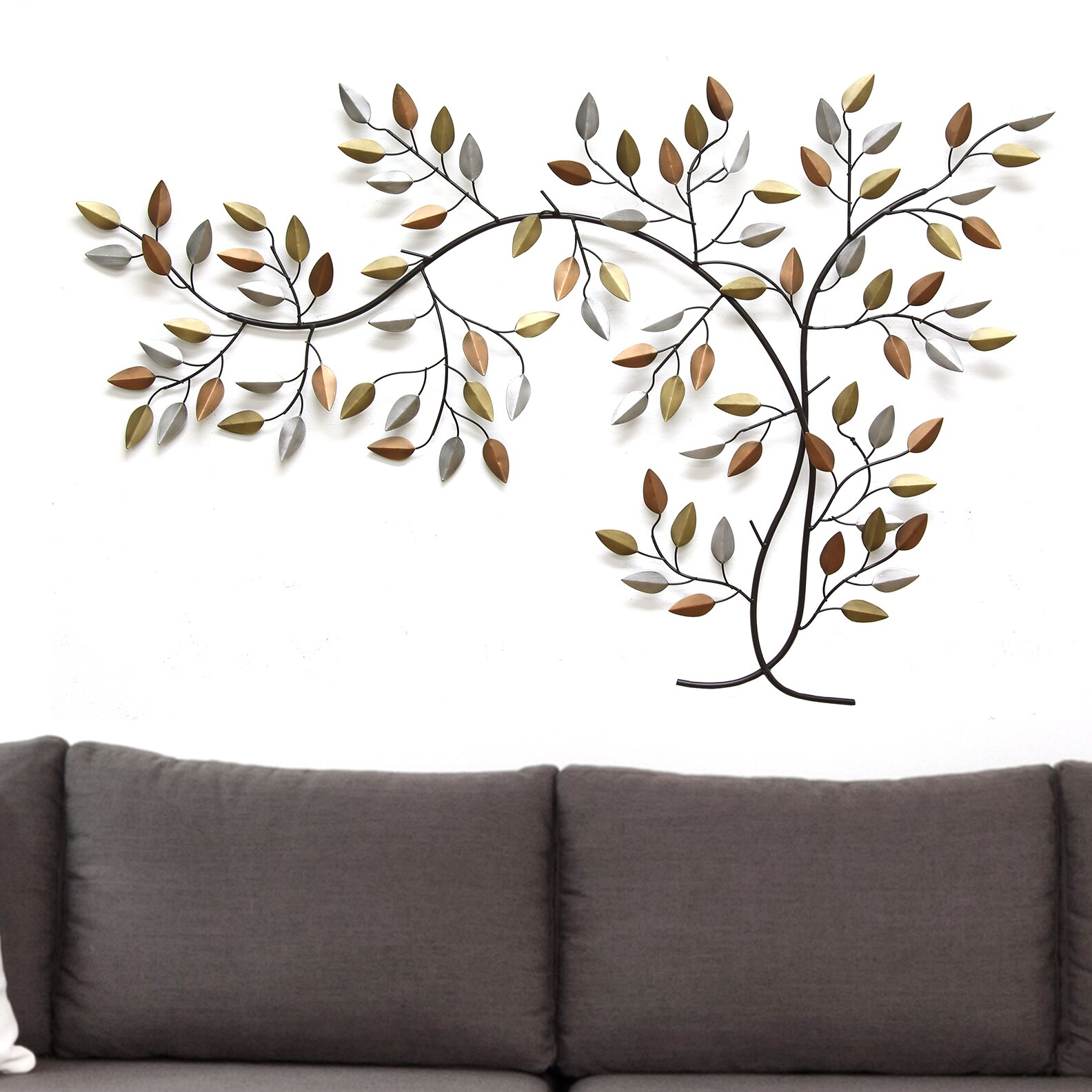 metal tree branch wall dcor - Metal Tree Wall Decor
