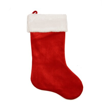 large traditional velveteen christmas stocking with faux fur cuff - Christmas Stockings