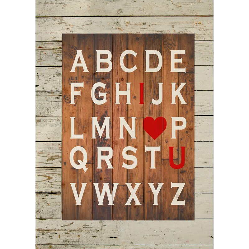 ABC I Love You Wood Sign Wall Décor