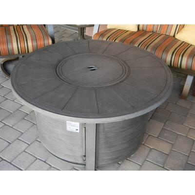 Fire Sense Verona Aluminum Propane Fire Pit Table Reviews Wayfair