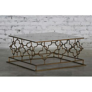 Kurtis Marble and Iron Coffee Table Rosdorf Park Herry Up