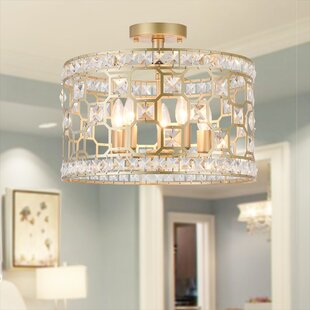 Graciela 5-Light Semi Flush Mount by Rosdorf Park