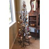 Iron Ornament 4' Brown Artificial Christmas Tree