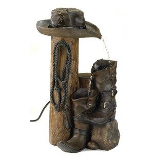 Loon Peak Resin Bancroft Boots Water Fountain