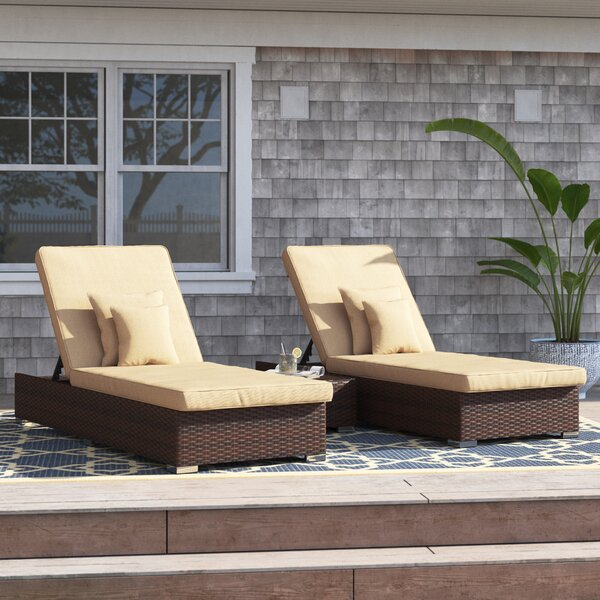Breakwater Bay Ismail Monaco 3 Piece Rattan Seating Group Conversation Set With Cushions Reviews Wayfair
