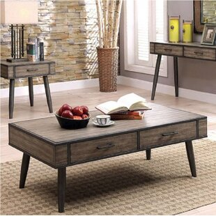 Asher Coffee Table with Storage by Union Rustic