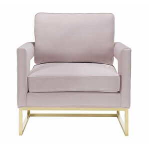 Aloisio Mauve Velvet Armchair by Willa Arlo ..
