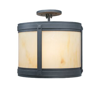Heckson 2-Light Semi Flush Mount by Millwood Pines