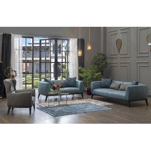 Lofty 3 Piece Living Room Set by Decor+