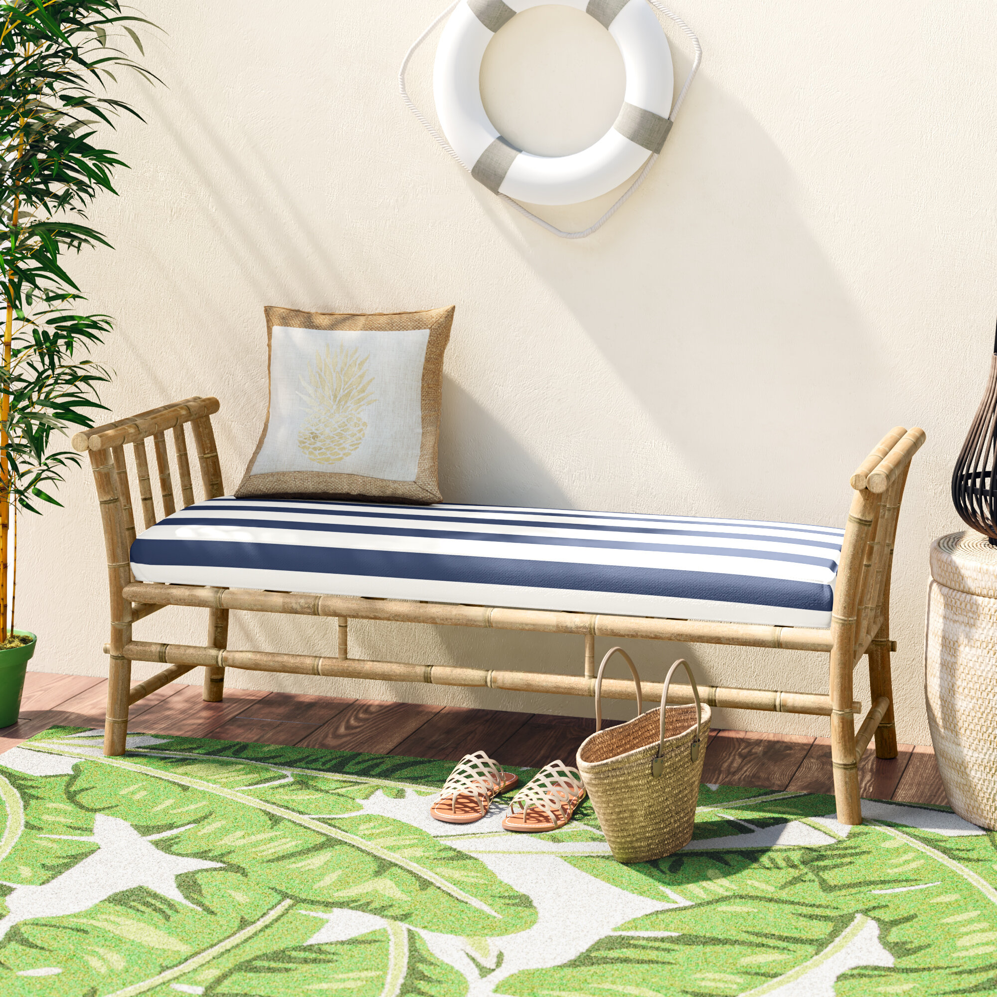 Bay Isle Home Grosvenor Bamboo Patio Daybed With Mattress Reviews Wayfair
