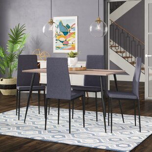 Nieto Scandinavian Style Exotic 5 Pieces Dining Set Wrought Studio