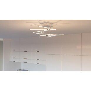 Orren Ellis Coletta 6-Light LED Semi Flush Mount