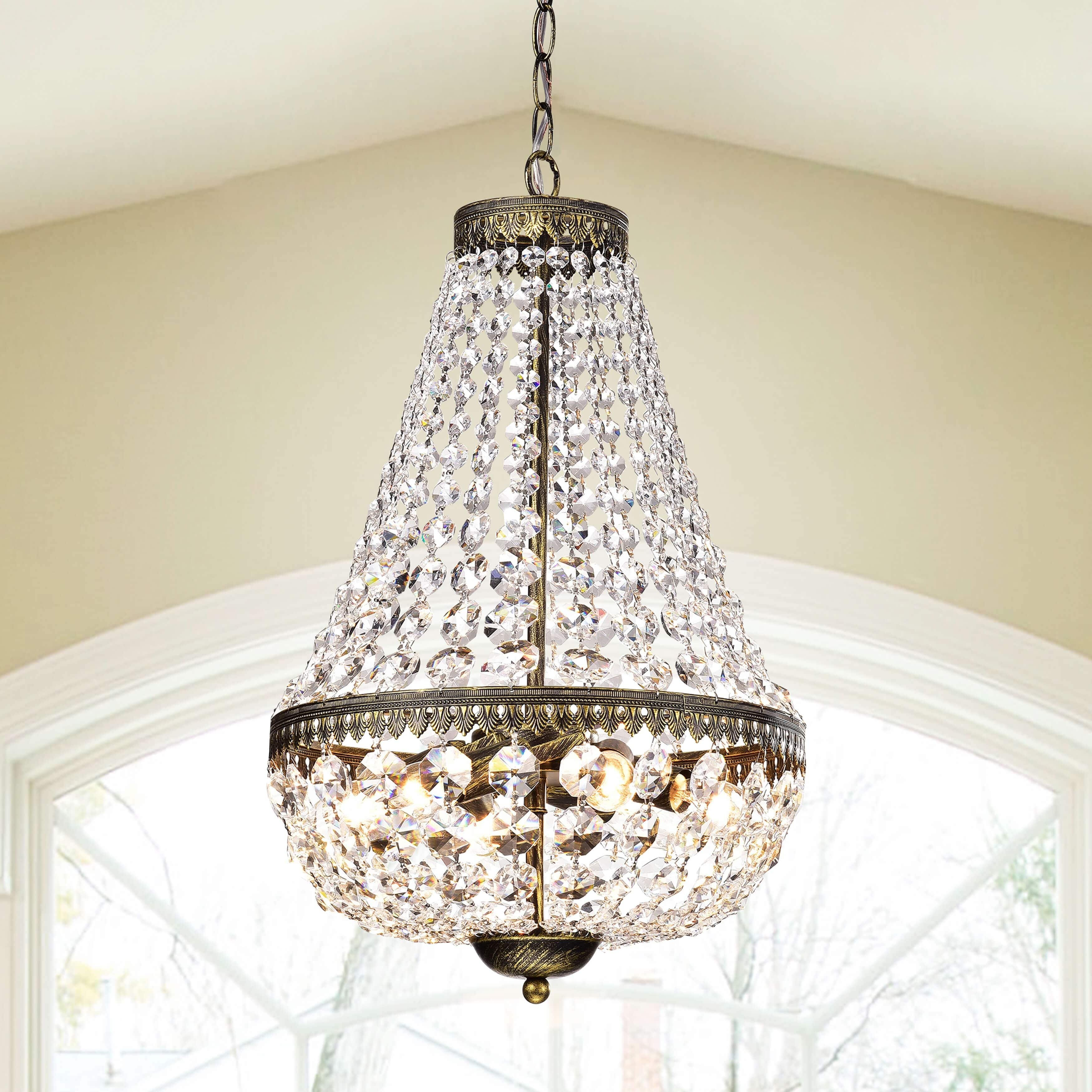Astoria grand gartner symmetric 6 light crystal chandelier reviews wayfair