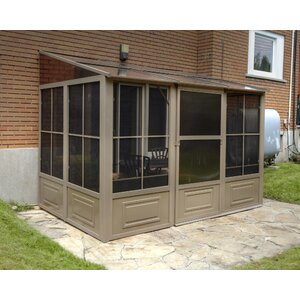 All Season 16 Ft. W x 8 Ft. D Metal Wall-Mounted Gazebo