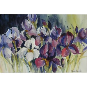 'White Iris' by Rita Auerbach Painting Print on Wrapped Canvas