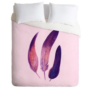 East Urban Home Feathers Duvet Cover Set