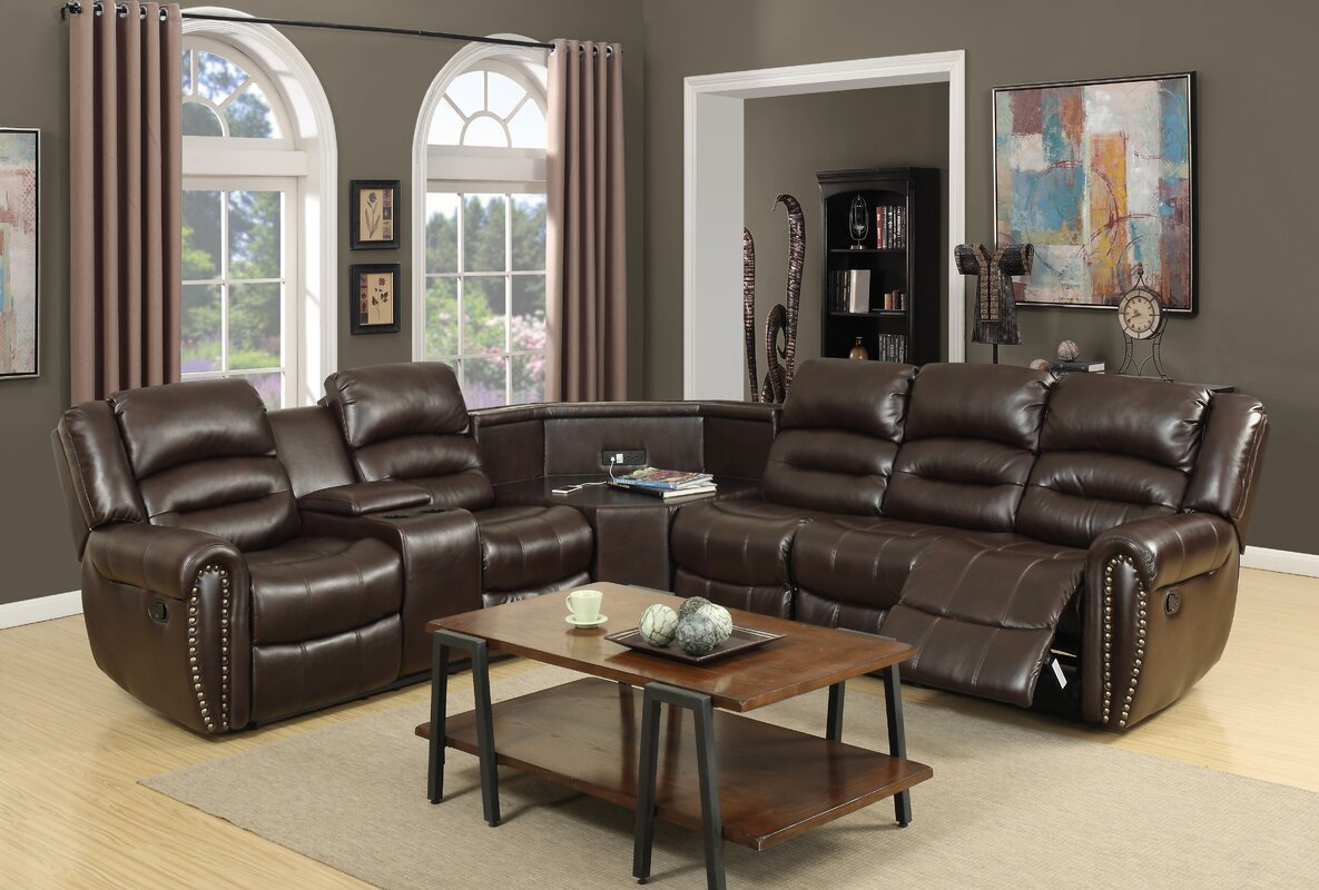 Scheele Reclining Sectional. Brown Scheele Reclining Sectional : brown reclining sectional - Sectionals, Sofas & Couches