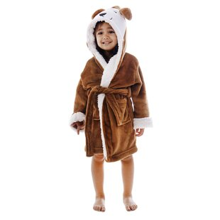 Giambrone Zoo Crew Fuzzy Animal Solid Rectangle Terry Cloth Bathrobe